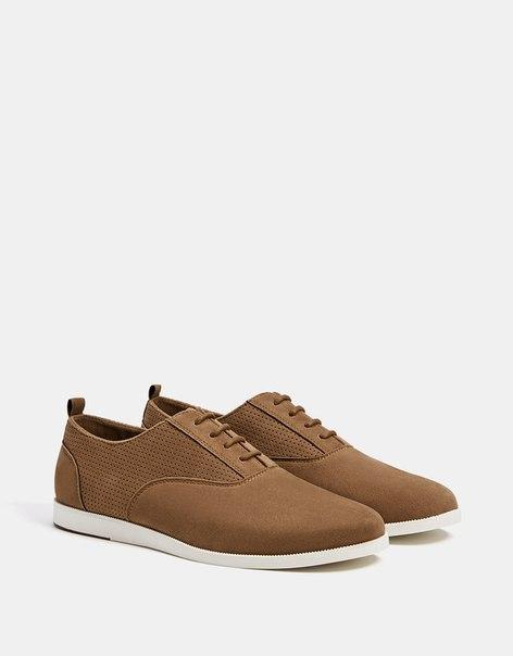 Мужские туфли с контрастной подошвой