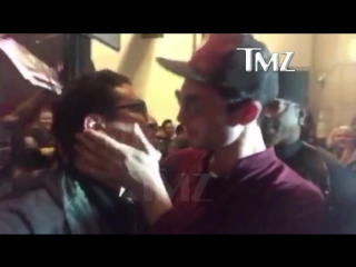 Flash Doesn't Get Drunk BUT HE DOES KISS FANBOYS!