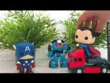 Видео для детей с игрушками - Тоботы. Новый робот - трансформер