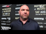 Dana White talks Conor McGregor - Floyd Mayweather in Los Angeles