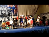 Алексей Маркин до 83 кг приседает в наколенных бинтах 275 кг, жмет лежа 160 кг, тянет 240 кг. Сумма 675 кг. Кубок России IPL