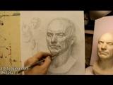 Обучение рисунку. Портрет. 14 серия. Построение гипсовой головы и вопросы светотени