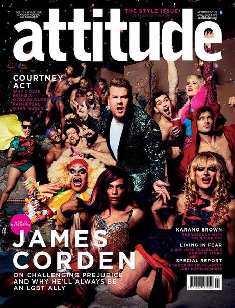Джеймс Корден в съемке для апрельского выпуска журнала Attitude / 2018