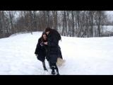 хаски Алдан с фотографом Катериной:)