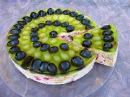 Творожный торт с желе и виноградом без выпечки / Пошаговый рецепт