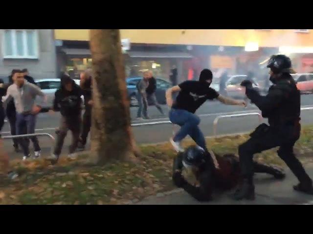 NK Maribor - Spartak Moscow (13092017) Maribor WIdzew hooligans vs police
