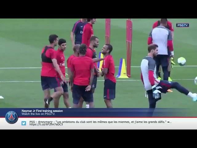 Neymar se reúne con Thiago Silva, Marquinhos, Dani Alves en el entrenamiento del PSG