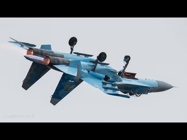 Пилотаж украинского пилота на СУ-27 вызвал восхищение у зрителей 2017