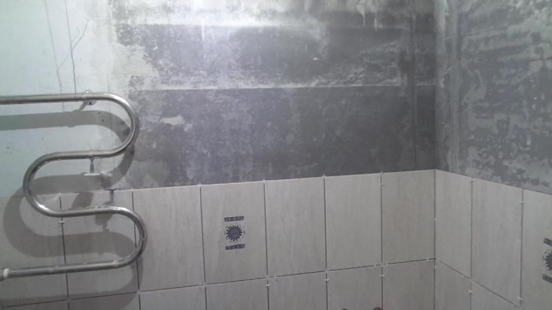 Ремонт квартир в Вологде Ул Вологодская 8 Фальшстены готовы утеплены Перенесен полотенцесушитель Укладка плитки
