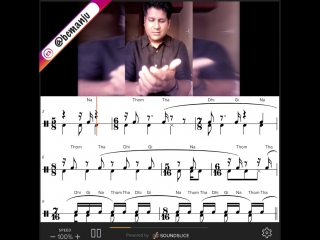 Music notation + konnakol (south indian vocal percussion)