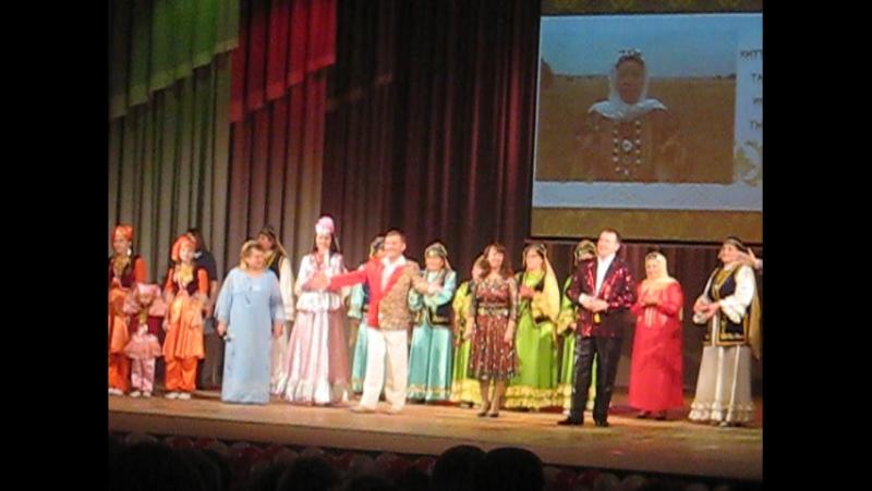 На 6 фестивале татарского народного творчества,посвященный создателю ансамбля Туган як моннары Зухре ханум Абдюхановой