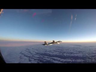 Тревога в НАТО - Русские идут !!! Су-30 Превосходство в небе над Балтикой :))