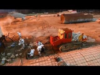 Усинск . Ликвидация открытого фонтана на нефтяной скважине. 2017 год