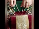 Как плетут вологодское кружево