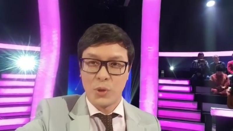 Серик Акишев на съемках