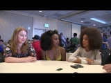 Hayley Law, Asha Bromfield and Sarah Schechter - Riverdale Interview at Comic-Con