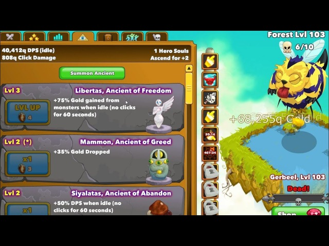 Clicker Heroes (EN) - Zone 100 - Overview of the Gameplay Ep.1 (Clicker Game)