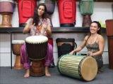 Drumskull Drums w Sahar K. &amp Nicole Loba - Ivory Coast Djembe w Sangban Dunun