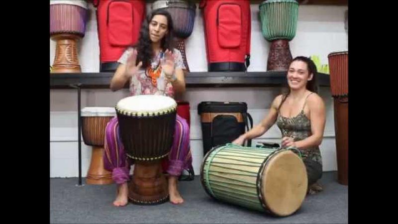 Drumskull Drums w/ Sahar K. Nicole Loba - Ivory Coast Djembe w/ Sangban Dunun
