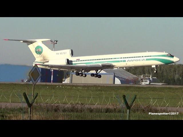 Tupolev Tu-154M RA-85757 Alrosa. Landing