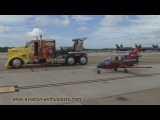2014 Naval Air Station Oceana Air Show FLS Microjet &amp Shockwave Jet Truck race (Sunday)