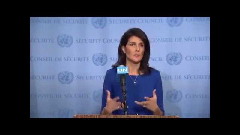 Zionist UN Ambassador Nikki Haley: US Determined to Stand up to the UN's Anti-Israel Bias