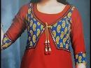 Front Neck Design with Choli Style Koti Style Jacket Style