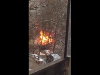 В Иванове горит машина 11.11.2017