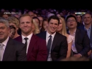 Crosby  Bettman Switch Seats ¦ 2017 NHL Awards