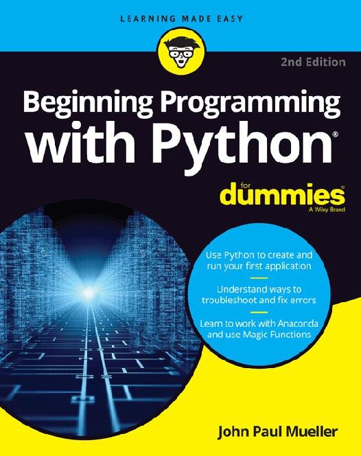 Beginning Programming with Python Dummies