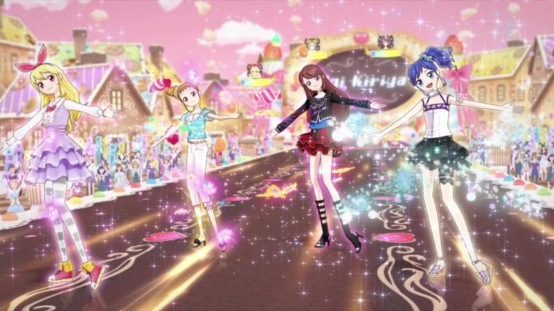 Aikatsu Episode 18 Growing for a dream Hoshimiya Ichigo Kiriya Aoi Shibuki Ran Arisugawa Otome 1080p