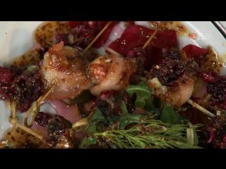 Инжир в беконе с вареньем из лепестков роз