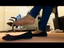 Вкусные ножки в балетках и телесных колготках Ballet Flat Pantyhose