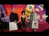 "Milo Moiré with Jean Paul Gaultier & Antoine de Caunes on ""Eurotrash"" (2016)"