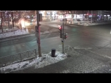 Момент аварии на «проклятом» перекрестке в центре Перми