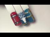 Новогодний маникюр 2018. Дизайн ногтей свитер с оленем. Дизайн ногтей. Роспись гель лаками. Рисунок на ногтях