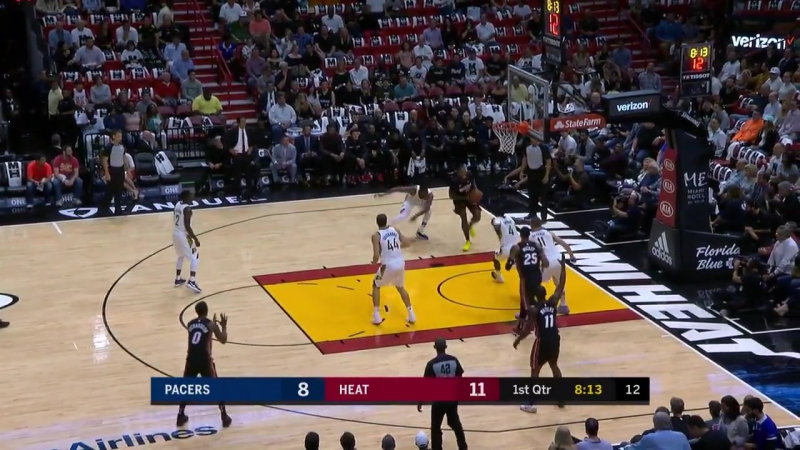 James Johnson destroy's Victor Oladipo
