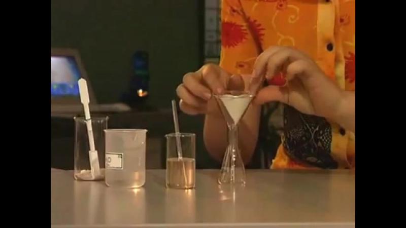 очистка неоднородной смеси соли и песка (фильтрование и выпаривание)