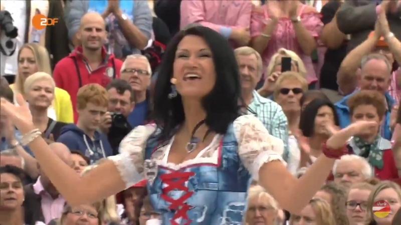 Antonia aus Tirol das Regiment «Auf die Bänke fertig los» ZDF-Fernsehgarten 18.09.2016