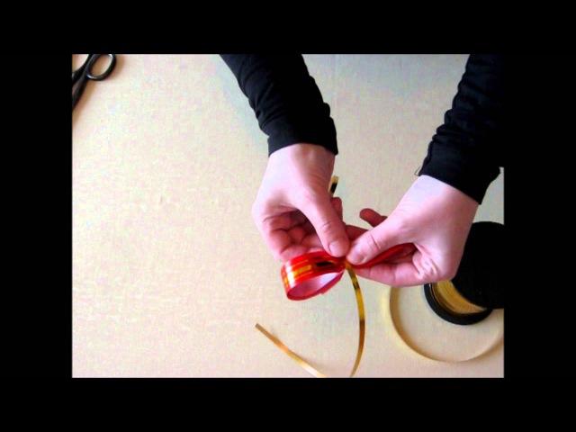 КАК СДЕЛАТЬ ПОДАРОЧНЫЙ БАНТ ИЗ ЛЕНТЫ СВОИМИ РУКАМИ How to make a Bow out of Gift Ribbon