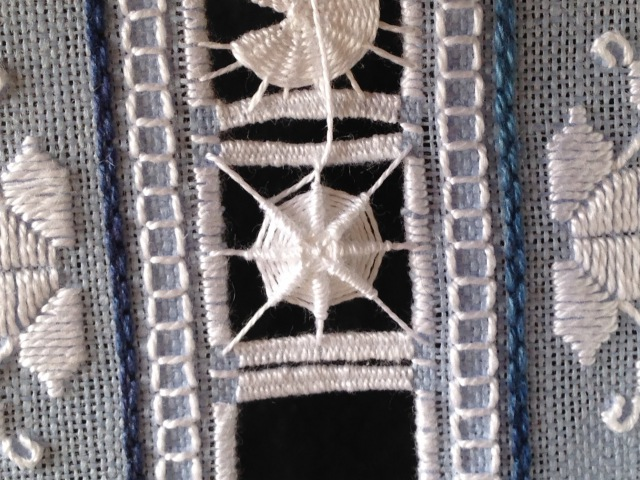 Wheel Filling in Punto Antico Embroidery