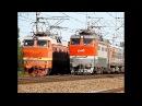 ЧС2Т-972 с пассажирским поездом, ст. Осеченка