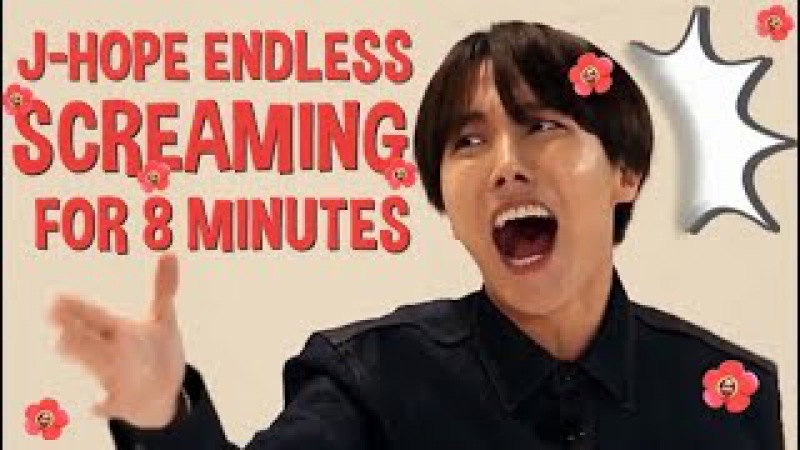 J-Hope Endless Screaming for 8 minutes ARMYsHOPE