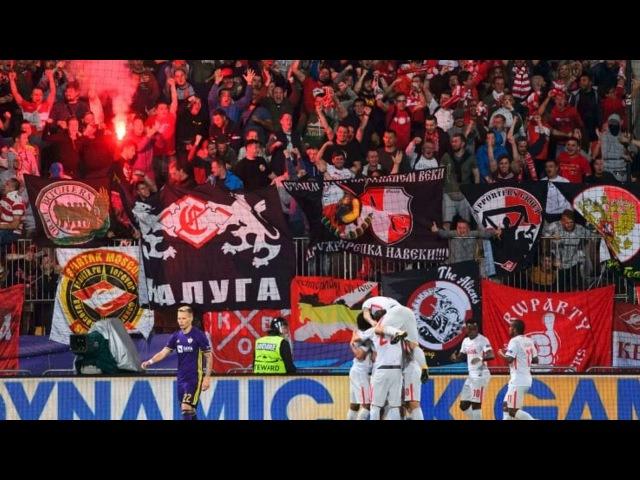 Champions, paura in Maribor-Spartak: scontri e razzo contro l'arbitro