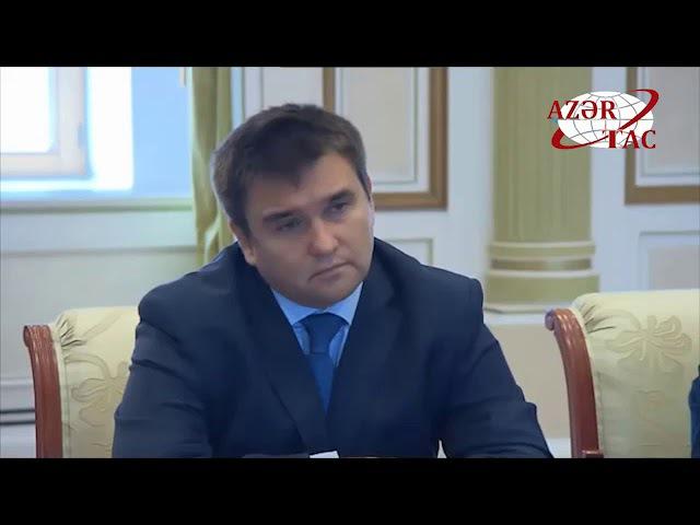 Prezident İlham Əliyev Ukraynanın xarici işlər nazirini qəbul edib
