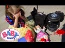 Кукла БЕБИ БОН УПАЛА С МОТОЦИКЛА в то время КАК МАМА смотрела мультики для детей ...