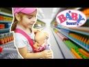 БЕБИ БОН видео про кукол BABY BORN Doll В супермаркете На Детской Площадке Outdoor Playgraund