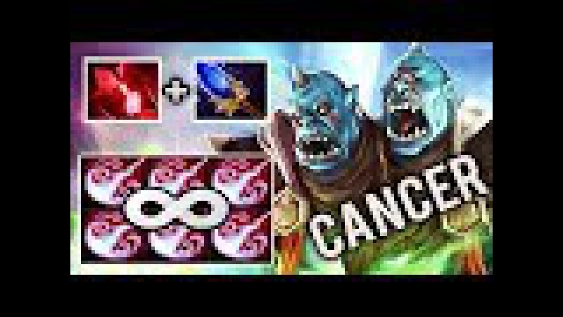 NEW CANCER INFINITY STUN WITH SCEPTER Carry Ogre Mid Bloodstone by Black^ Ding Ding Ding Dota 2