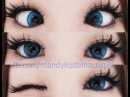 REVIEW Circle Lenses - Barbie Puffy 3 Tones Blue Sponsored by Uniqso