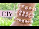Top 3 easy DIY beads bracelets / Простые браслеты из бисера на резинке для начинающих детей